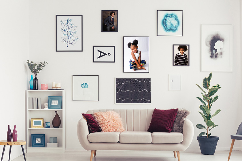 Wall Picture Gallery in Living Room
