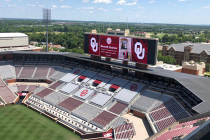 OU December 2020 Graduation Display in Football Stadium